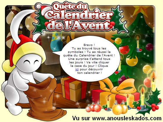 calendrier avent prizee